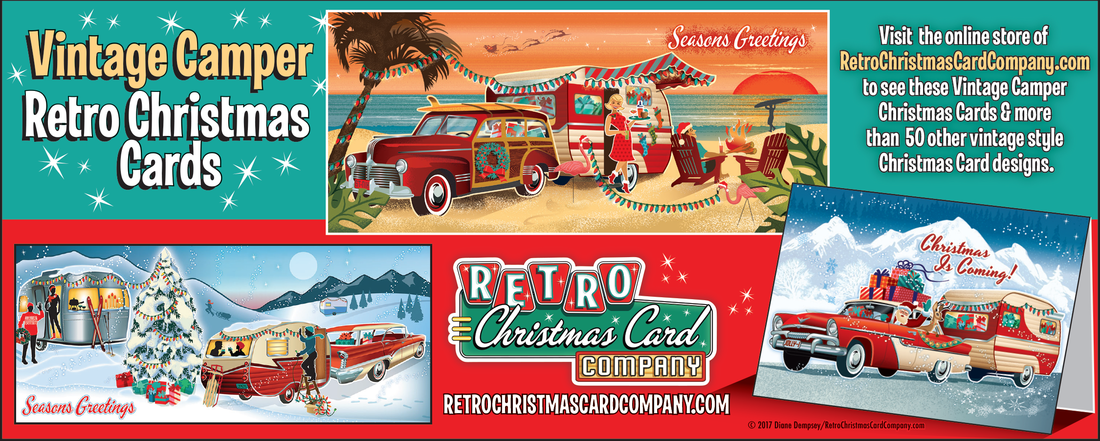 The History of Christmas Cards - VINTAGE CAMPER TRAILERS